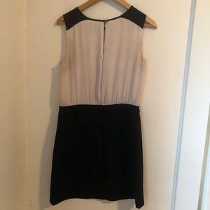 LOFT Dresses - Black and cream color block dress | Loft size 4